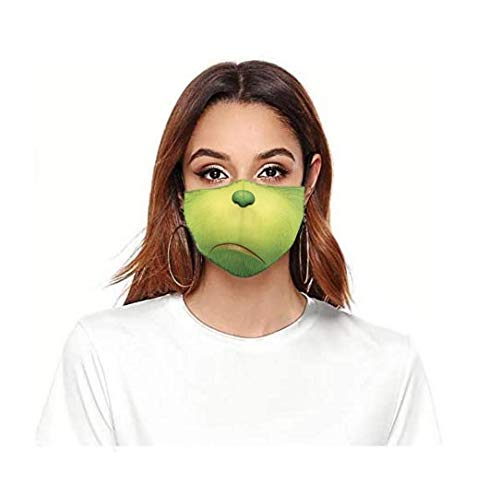ROXX (Green Grin Outdoor Mask with Changeable Filter, Unisex Anti Pollen Allergens Filters Dust Includes 1 Filter
