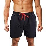 ITISME Pantaloncini Casual Colore Solido Ricamo a Lettera Pantaloncini da Spiaggia Pantaloncini Sportivi Costume da Bagno Uomo