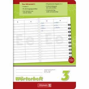 Brunnen 10 x Wörterheft A5 Lineatur 3 28 Blatt