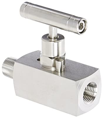 "PIC Gauge NV-SS-3/8-HS-180-MXF 316 Stainless Steel Straight Needle Valve with Hydraulic Service Seat, 3/8"" Male NPT x 3/8"" Female NPT Connection Size, 10000 psi Pressure by PIC Gauges"