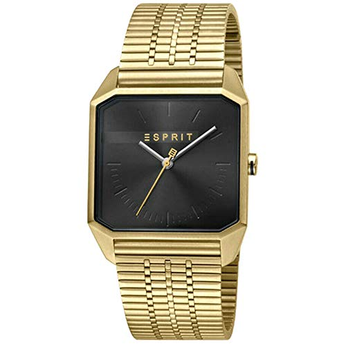 Esprit ES1G071M0065 Cube Gents Black Gold Herrenuhr