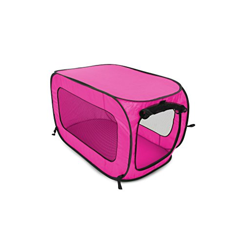 Beatrice Home Fashions SOLPPK00FUC Pop Up Portable Pet Kennel Cage Fushia