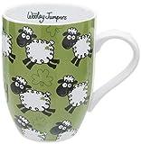 Dublin Gift - Taza, diseño de ovejas Saltando, 285 ml
