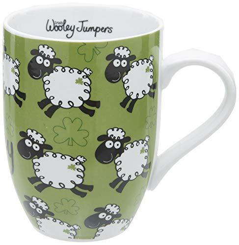 Taza Dublin Gift para café o desayuno con diseño de ovejas saltando
