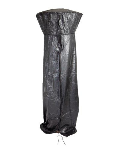 Fire Sense Full Length Outdoor Patio Heater Vinyl Cover | Heavy 10 Gauge Felt Lined Black Vinyl | Waterproof | Weather Resistant | Zipper and Fabric Ties Included
