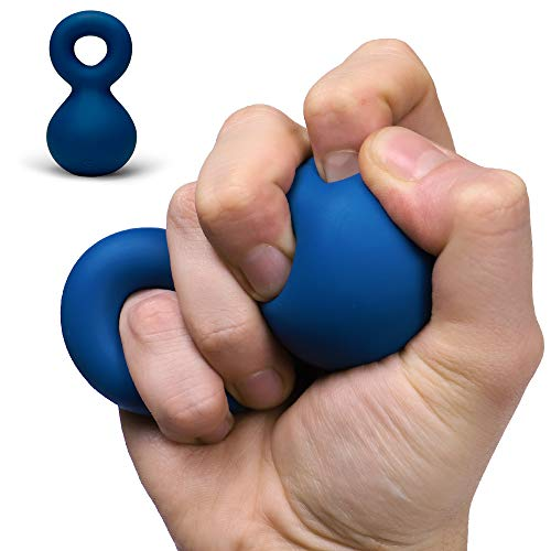 Speks Blots Silicone Stress Ball - Silky Soft, Ergonomic 100% Silicone Desk Toy - Blue Slammer