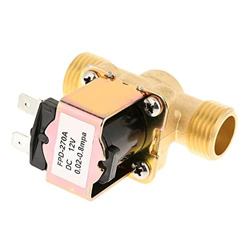 Ashley GAO Válvula magnética solenoide eléctrica latón normalmente cerrado para control de agua 12V 1/2' 220' válvula de entrada Válvula de calentador de agua solar
