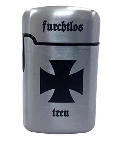 Doktor Hardstuff Eisernes Kreuz Sturmfeuerzeug Silber