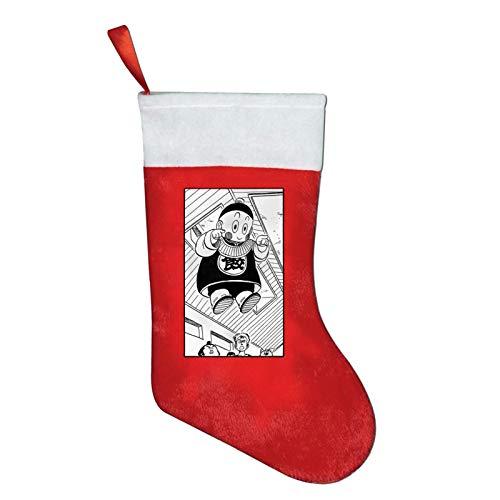 Chiaotzu Manga Scan Kamin Christmas Stocking Weihnachtsbaum Schneemann Deko Rote Socken Goodie Bags Weihnachten Socken Weihnachtsstrümpfe Geschenktüte,26X42Cm
