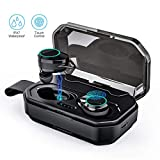 Wireless Earbuds, Bluetooth Headphones Touch Control 5.0 Stereo Hi-Fi Sound IPX7 Waterproof True Wireless Headsets with 3001mAh Charging Case, Noise Cancelling Wireless Headphones