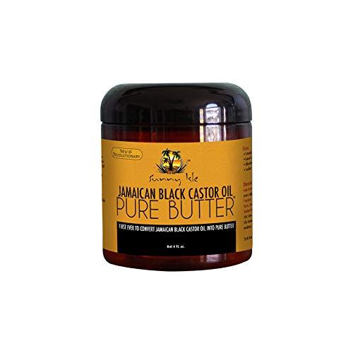 Sunny Isle Pure Butter Jamaican Castor Oil, Black, 4 Oz