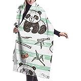 Archiba Winter Schal Cashmere Feel Cute Baby Pnada Bambus Schals Stilvolle Schal Wraps Weiche Warme Decke Schals Für Frauen
