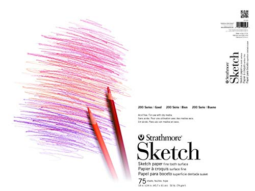 Pro-Art 255150 5-1//2-Inch by 8-1//2-Inch Strathmore Student Sketch Pad 100-Sheet