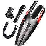 FYstar Aspiradora de automóvil Aspiradora de automóvil Seca y húmeda Aspiradora de Mano portátil para automóvil Hogar y automóvil (Negro Rojo y Encendedor de Cigarrillos)