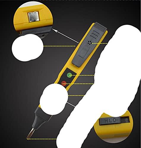 Tipo de destornillador Medidor de voltaje digital AC DC 0-250V Pantalla LCD eléctrica Detector de voltaje Pluma Detector herramienta de diagnóstico-C