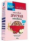 Kölln Muesli de Avena Integral con Arándanos Rojos y Frutas, 500 Gramos