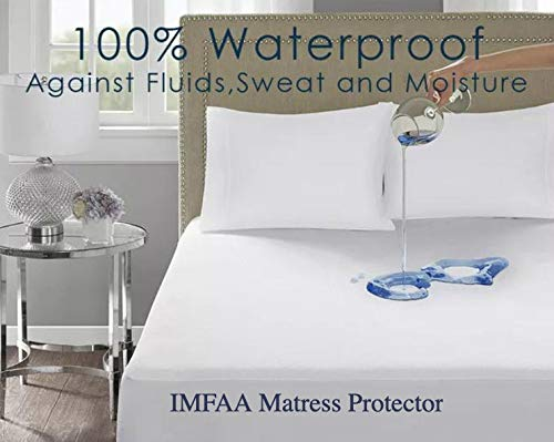 IMFAA 100% Water & Moisture Proof Terry Towel Mattress Protector, Non Noisy,Anti Bacterial,...