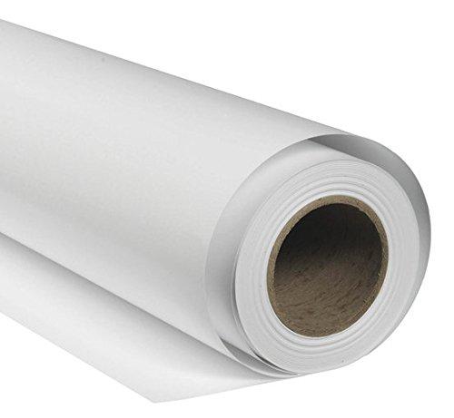 BRESSER SBP08 Papierhintergrundrolle 1,36 x 11m Arktisch Weiß