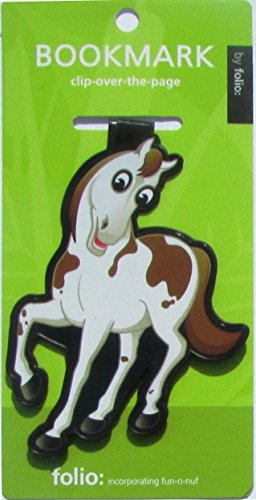 Horse Bookmarks (Clip-over-the-page) Set of 2 - Assorted colors