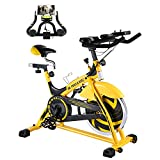 MaxKare Indoor Exercise Bike (Yellow)