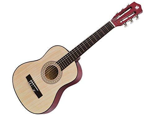 Concerto 681.01202 701202 Gitarre 75 cm, Kindergitarre aus Holz, Musikinstrument für Anfänger, Holzgitarre zum Lernen, Anfängergitarre für Kinder ab 4 Jahren, Konzertgitarre zum Üben, naturfarben