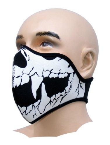 Biker Tattoo motorfiets mondbescherming masker neopreen fijnstoffilter snowboard ski extreme sport paintball doodskop