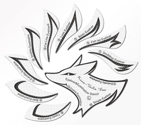 Plantilla de delineador de ojos no tejido Plantilla de guía de delineador de ojos y sombra de ojos...