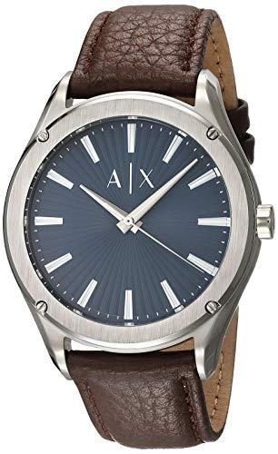 Reloj Armani Exchange Fitz para Hombres 44mm, pulsera de Piel de Becerro