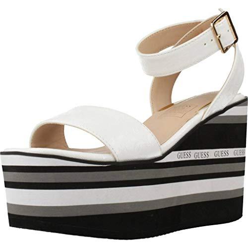 Guess Damen Sandalen Sandaletten FAL03 Sandalia CU Weiß 40 EU