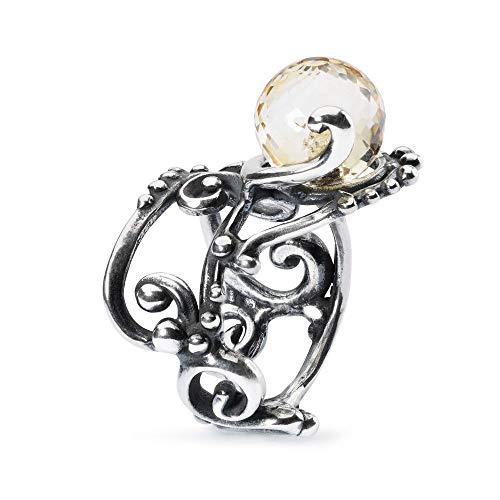 Trollbeads Silber Citrin Facetten Ring - Grösse 53