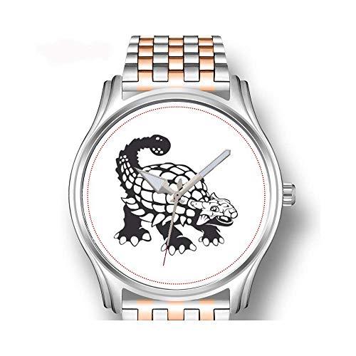 Herenhorloges roségoud roestvrij staal sport business horloge mannelijk horloge Angel Chickadee, waarneembare vogels gevlochten hart polshorloge