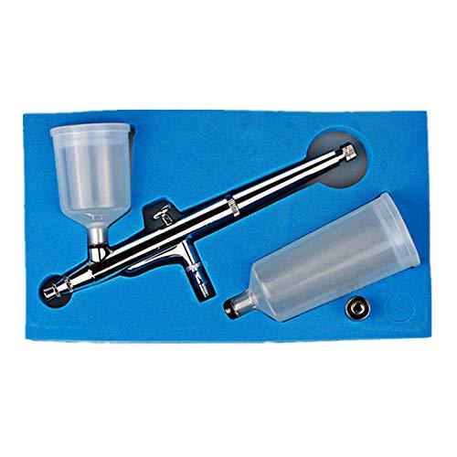 MOMIN Apagado Kit de aerógrafo Multiuso Precision Dual-Action Sifhon Feed AirBrow Airbrush 0.3 mm Tip de Punta Conjunto fácil de Usar Guía para la decoración de Pasteles