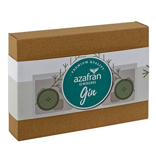 Azafran Gewürze Set Gin - Gewürzbox für Gin Tonic mit 4 Gewürzen - Gesamt 150g