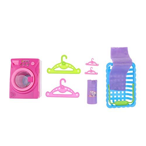 Grucce Lavatrice Asciugamano Carrello Miniature Arredamento Accessori per Dollhouse