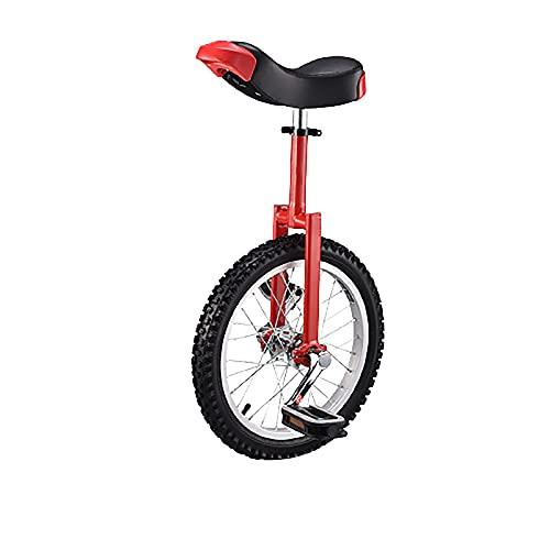 ZGZFEIYU Bicicleta Estática De Equilibrio De Columna De 16/18/20/24 Pulgadas Adecuada para Principiantes Y Unisex-16 Inch Red||16
