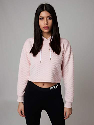 Project X Paris Hoodie Crop Top mujer, rosa, L