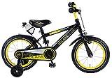 E&L Cycles Kinderfahrrad Volare Freedom 14 Zoll schwarz/gelb mit Rücktrittbremse und Trinkflasche 95% vormontiert