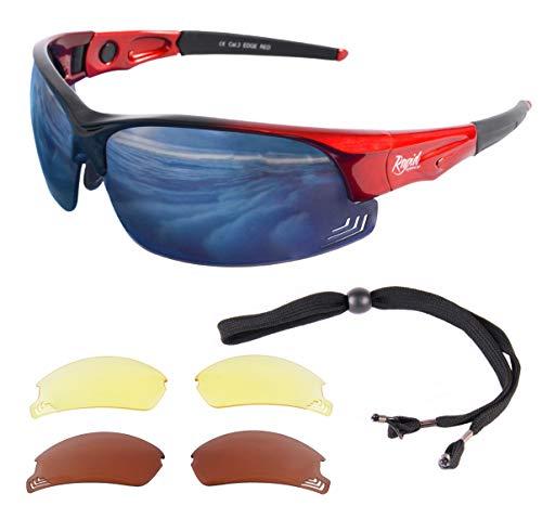Rapid Eyewear rouge LUNETTES DE SOLEIL PILOTES 'Edge Red' pour hommes et femmes. Se conformer aux recommandations des autorités de l'aviation. Verres