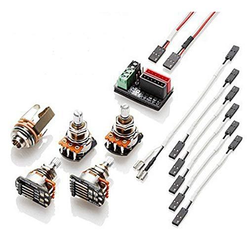 EMG 1 or 2 Pickups HZ Passive Short Shaft Solderless Wiring Conversion Kit