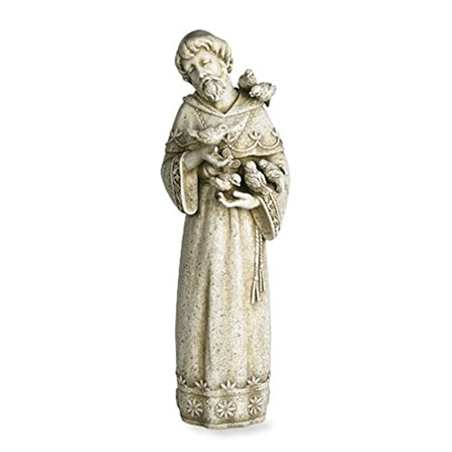 Saint Francis of Assisi Resin Home or Garden Statue, 23 Inch
