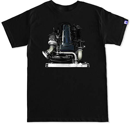 FTD Apparel R Built Men's 2JZ GTE Engine T Shirt - Large Black
