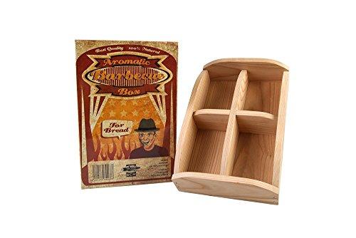 Axtschlag Brotgarschale, zum Backen von Brot und Brötchen, für Grill und Backofen, hochwertiges Kirschholz, herausnehmbarer Einsatz, 300 x 200 x 80 mm