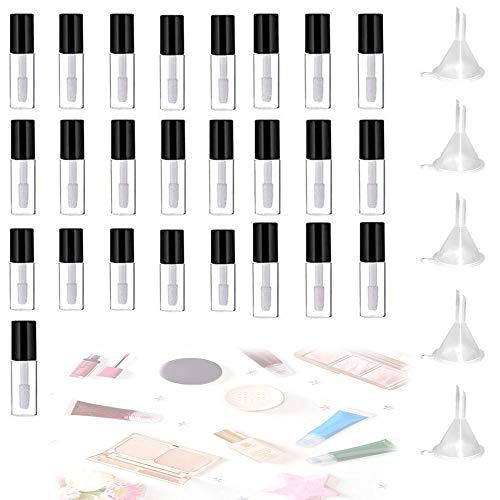ZDTVU Vide Lip Gloss Tube Brillant À Lèvres Conteneurs,DIY Maquillage Outils Cosmétique Conteneur,pour Les Voyages, Les Voyages d'affaires
