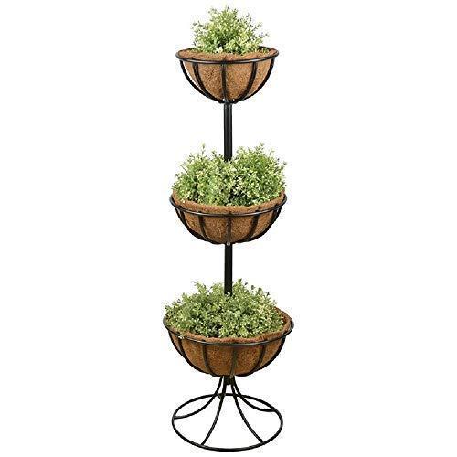 linoows Blumenetagere Old Britain, 3 er Etagere, Pflanzturm, Nostalgie Blumenständer