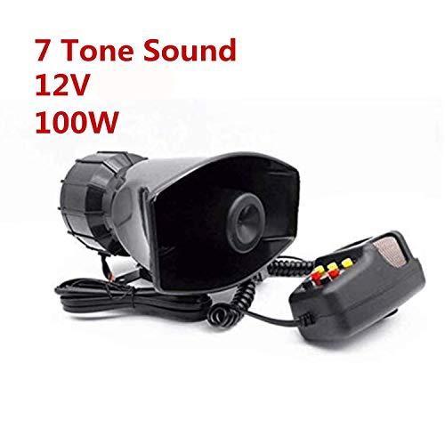 Auto Sirene Lautsprecher Fahrzeug 12V 100W 7 Ton Sound Horn mit Mic PA Polizei Notfallsignal Hupe