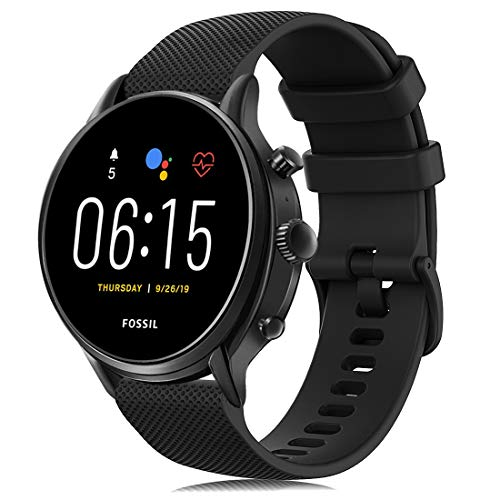 RIOROO Cinturini Compatibile per Fossil Smartwatch Gen 5 / 4 da Uomo, Cinturino Compatibile per Garmin Vivoactive 4, 22mm Silicone Sport Ricambio Bracciale, Accessori (nessun orologio) (Nero)