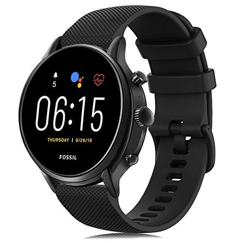 RIOROO Correa Compatible para Garmin Vivoactive 4,Correa Compatible para Fossil Smartwatch Gen 5 / 4 para Hombre Strap 22mm Sport Silicona Repuesto Accesorios (sin Reloj) (01 Negro)