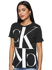 Calvin Klein Mirrored Monogram Straight tee Camisa para Mujer