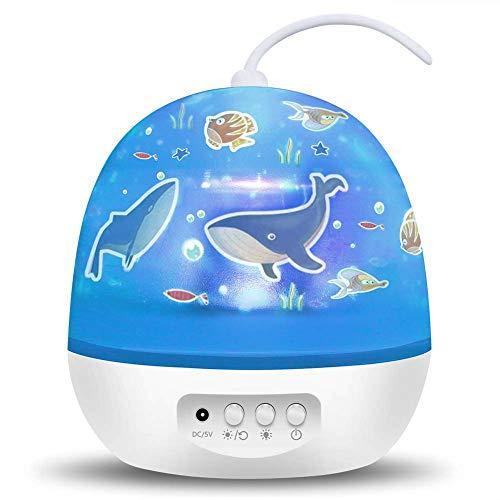 TOFOCO Sternenhimmel Projektor Nachtlicht für Kinder & Baby, Drehend Sternen/Galaxy/Karussell/Ozean 4-Thema Schlafzimmer Decken Projektion Lampe - [Einzigartig Geschenke für Weihnachten]