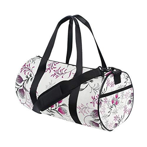 YCHY Gym Bag,Sporttasche Hochzeitskarte Einladung Abstrakter Blumenhintergrund,New Canvas Print Eimer Sporttasche Fitness Taschen Reisetasche Gepäck Handtasche